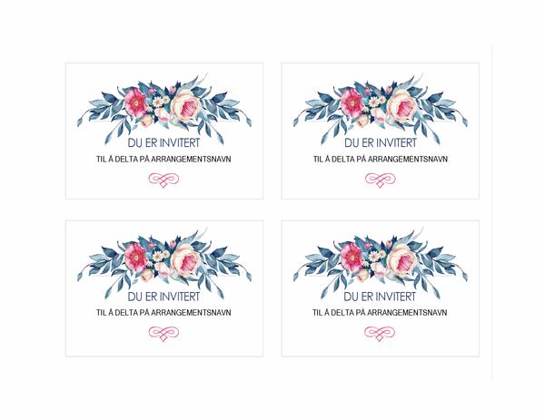 Invitasjon til fest (blomsterutforming)
