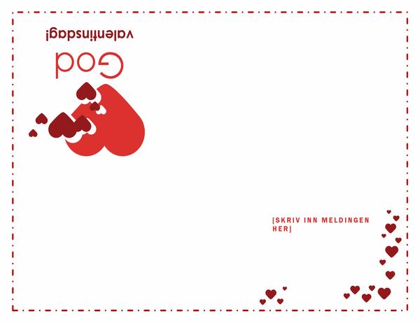Valentinsdagskort (brettet i fire)