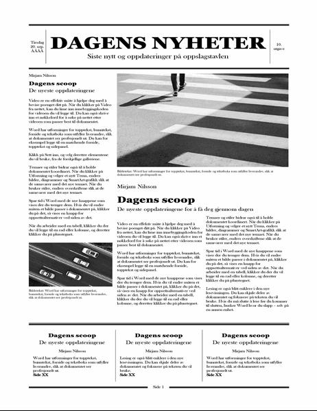 Tradisjonell avis