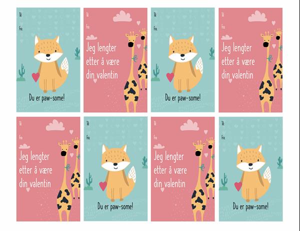 Valentinskort for barn
