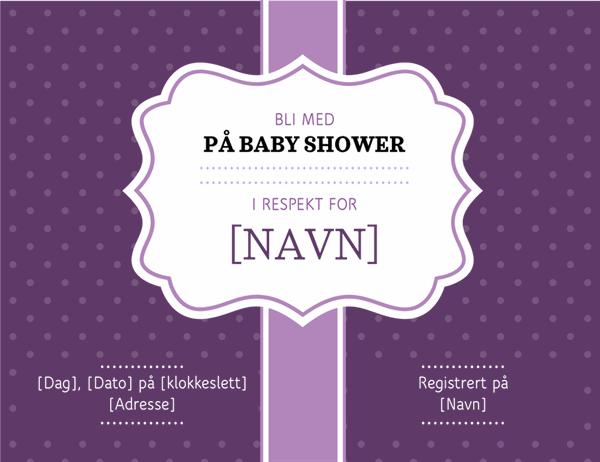 Baby shower invitasjon