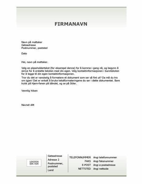 Firmabrevpapir (enkel utforming)