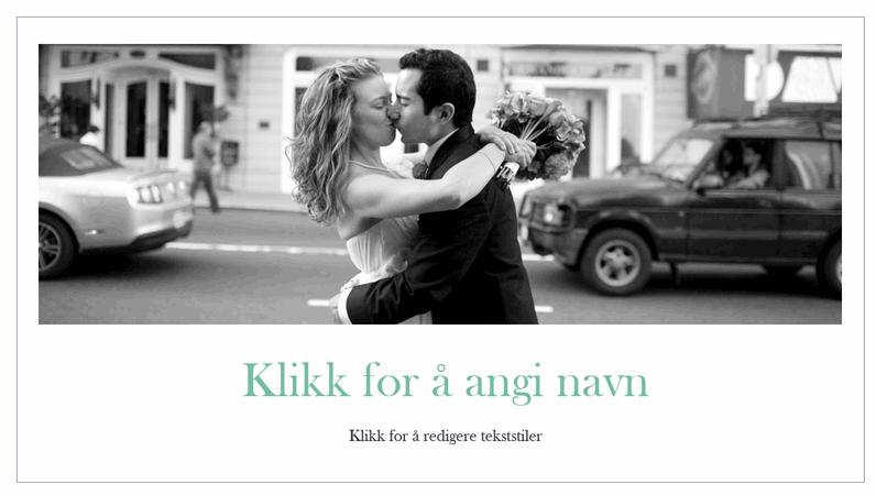 Enkelt fotoalbum for bryllupsbilder