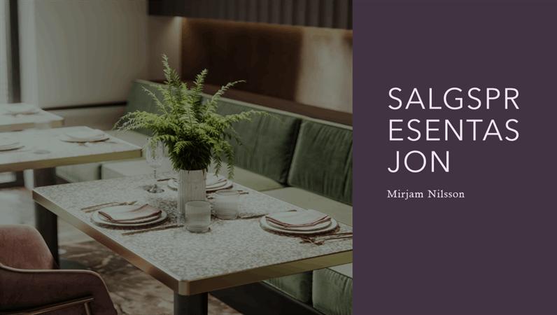 Salgspresentasjon for restaurant