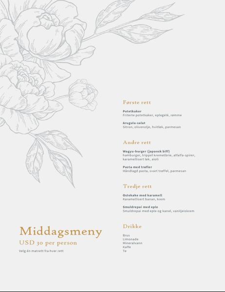 Elegant middagsmeny