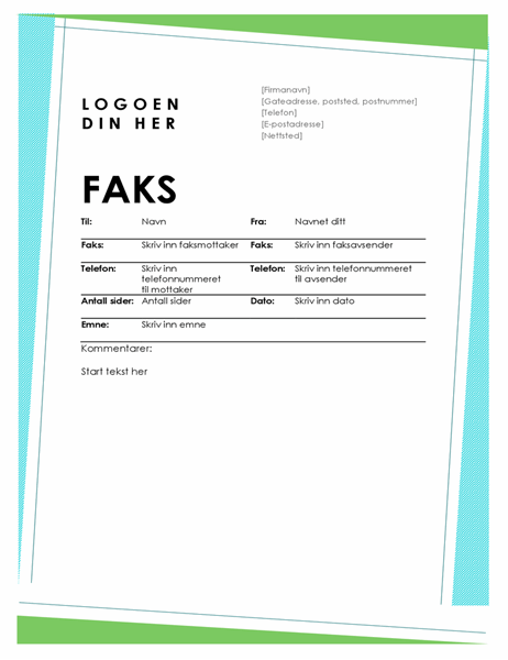 Geometrisk faksforside