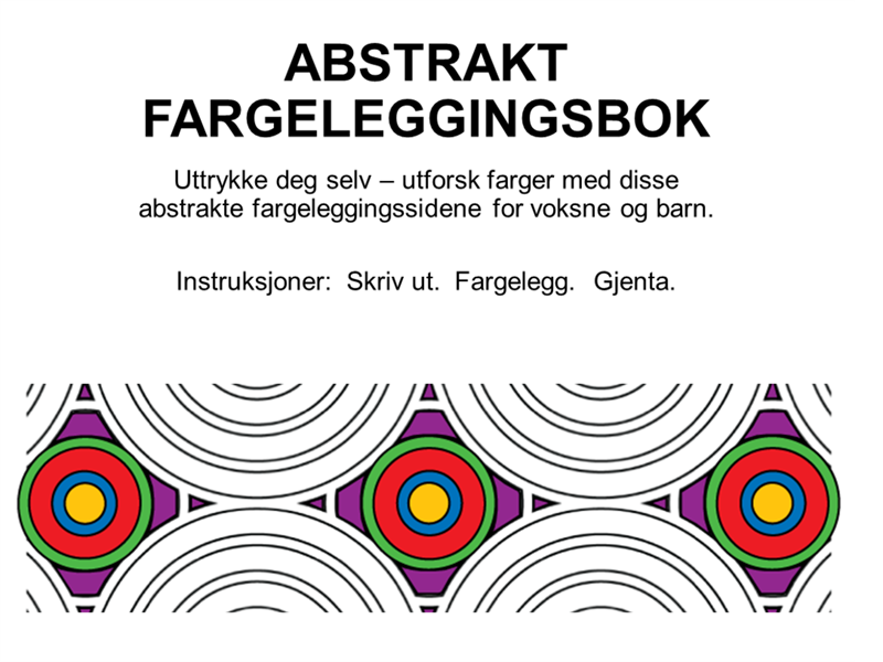 Abstrakt fargeleggingsbok