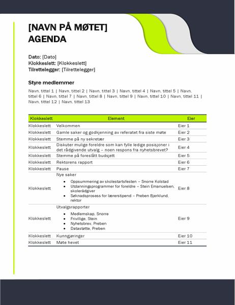 Agenda for skolemøte
