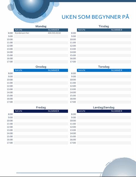 Blå sfærer-avtalekalender