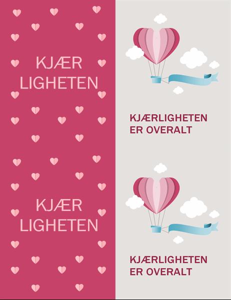 Fylt av kjærlighet valentinskort