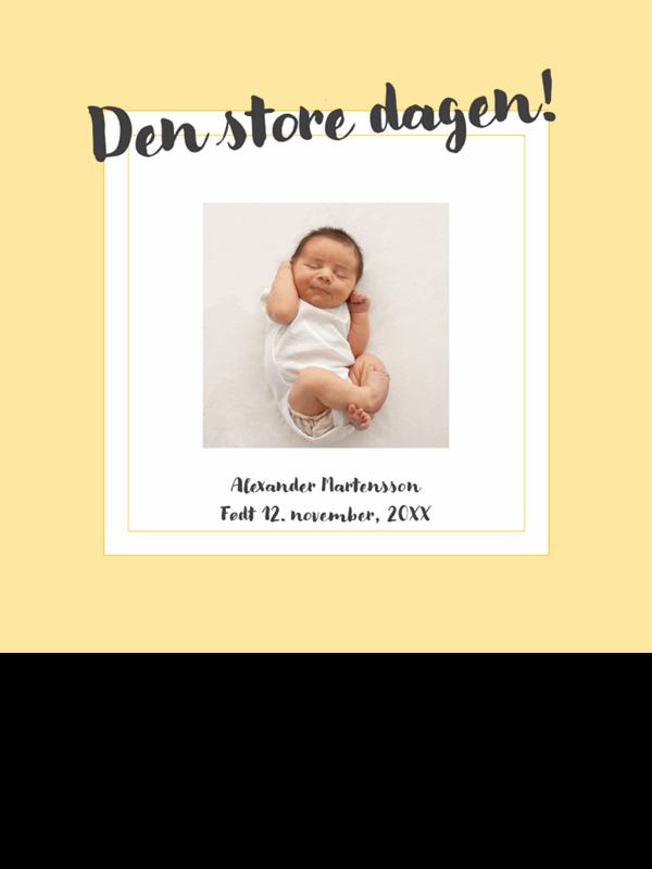Fotoalbum for babyens milepæler