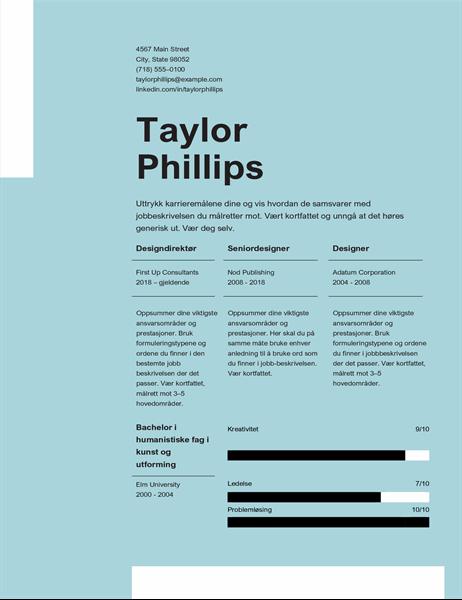 Enkel, elegant CV