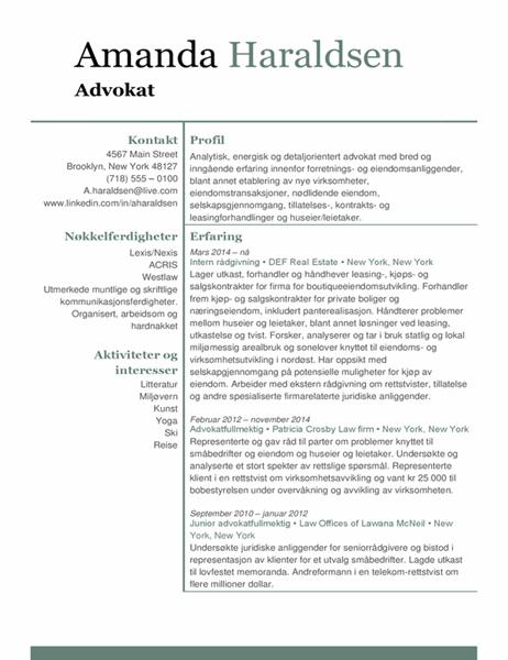 Advokat-CV