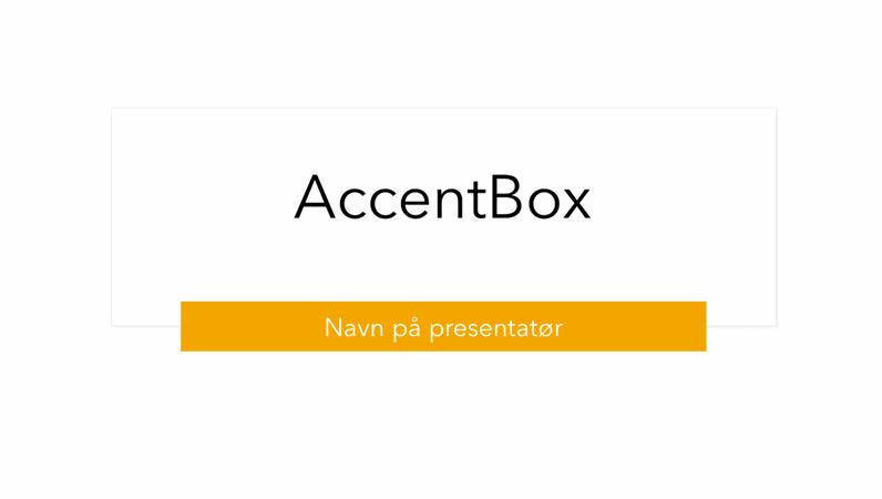 AccentBox-presentasjon