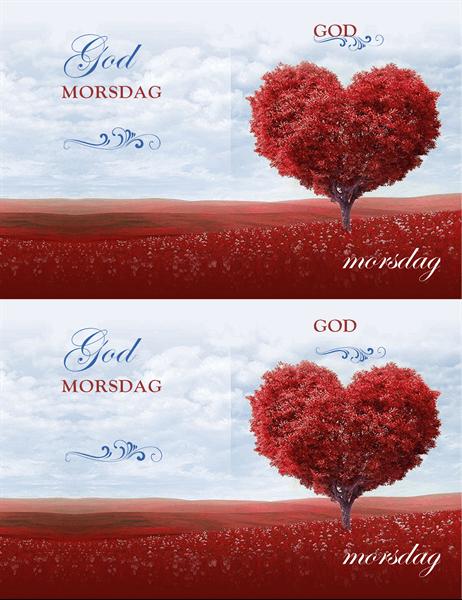 Hjertetre morsdagskort