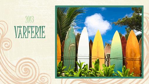Fotoalbum for sommerferie (stranddesign, bredformat)