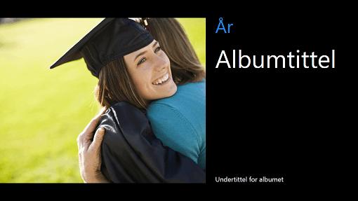 Fotoalbum fra avgangseksamen, svart (bredt format)