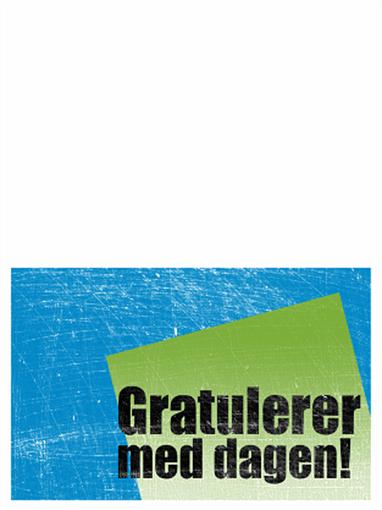 Bursdagskort, ripet bakgrunn (blå, grønn, halv bretting)