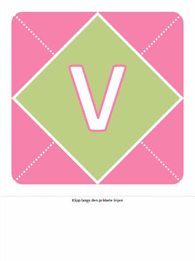 Velkomstbanner for jentebarn (rosa, lilla, grønn)