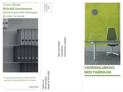 Tredobbel brosjyremal for bedrifter (grønn og svart utforming)