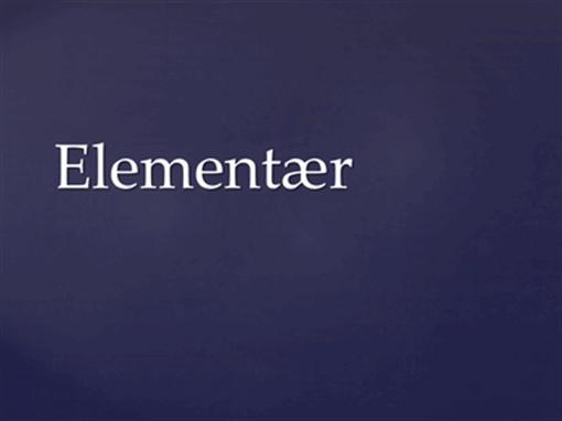 Elementær