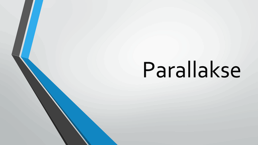 Parallakse