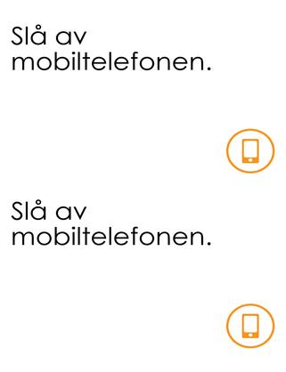 Påminnelse om å slå av mobiltelefon