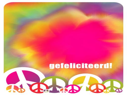 Verjaardagskaart (tie-dye)