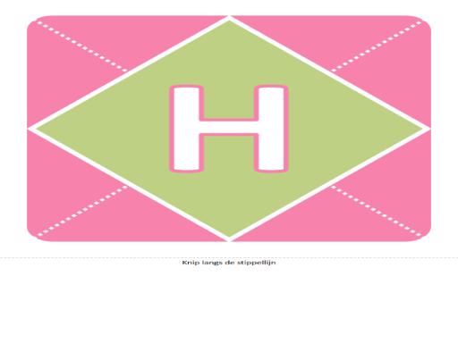 Het is een meisje (spandoek met roze, paars, groen)