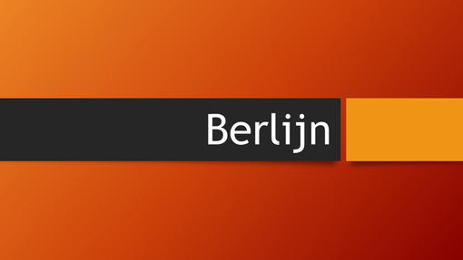 Berlijn oranje