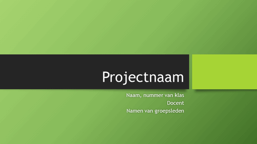 Groepsprojectpresentatie (thema's in Berlijn, breedbeeld)