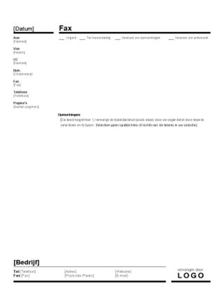 Zakelijk faxvoorblad