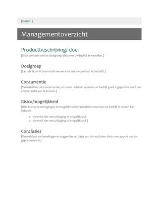 Managementoverzicht