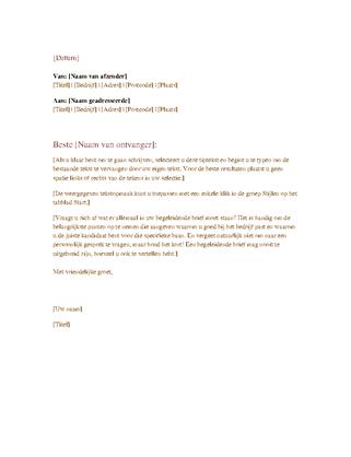 Formele zakelijke brief