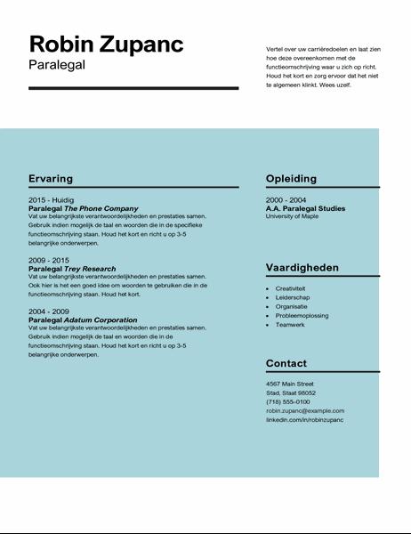 CV met impact