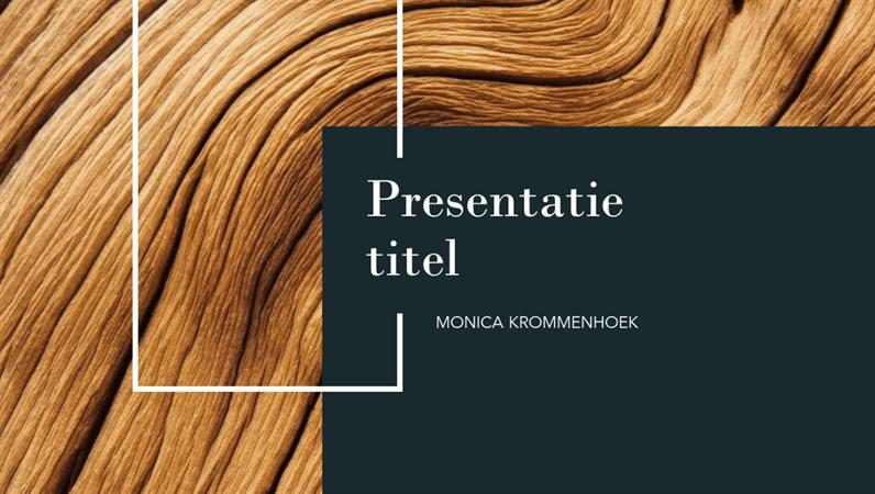 Presentatie met donker hout