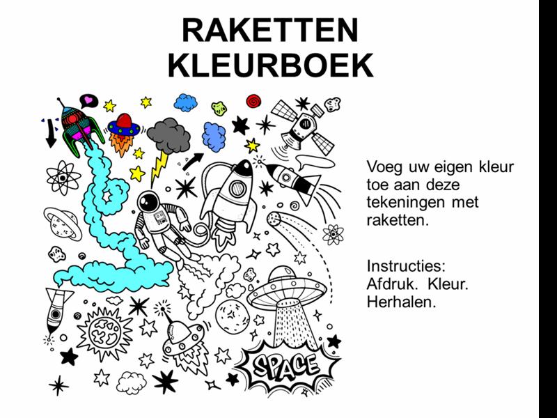 Raketten kleurboek