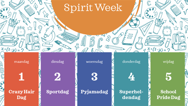 Agenda van 'spirit week'