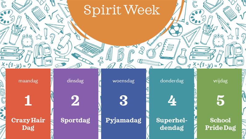 Agenda van 'spirit week'