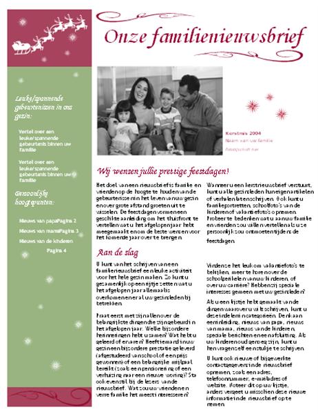 Kerstnieuwsbrief (met arreslee en rendieren)