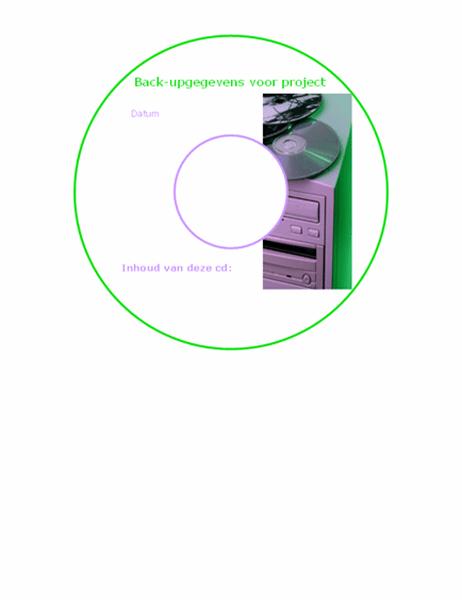 Etiketten voor back-up-cd