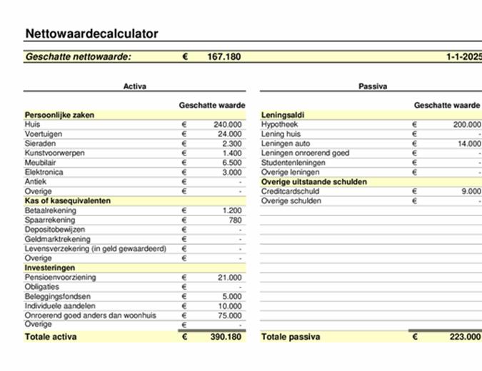 Nettowaardecalculator