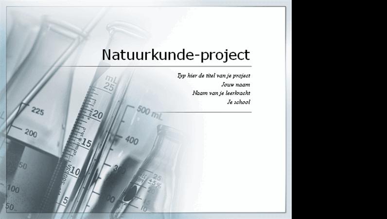 Spreekbeurt voor natuurkundeproject