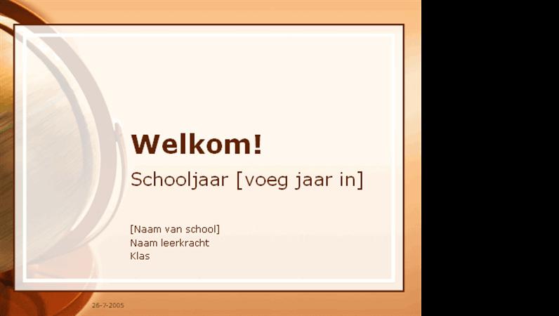 Presentatie Welkom terug op school