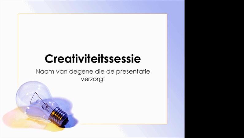 Presentatie over brainstormen