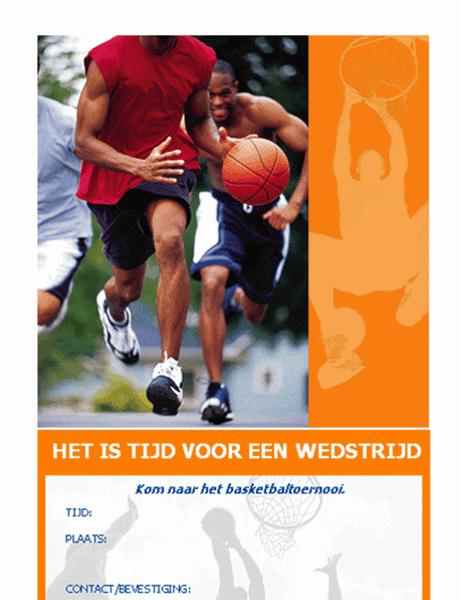 Uitnodiging voor een basketbalfeest