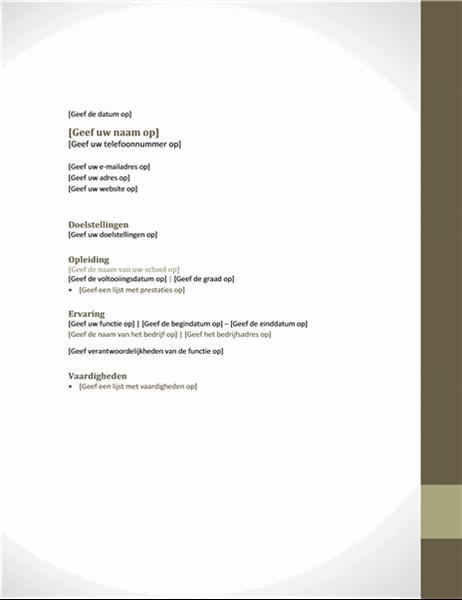Curriculum vitae (ontwerp Aangrenzing)
