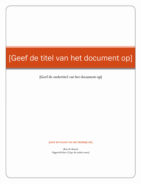 Rapport (thema Equity)