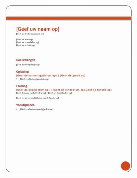 Curriculum vitae (thema Equity)