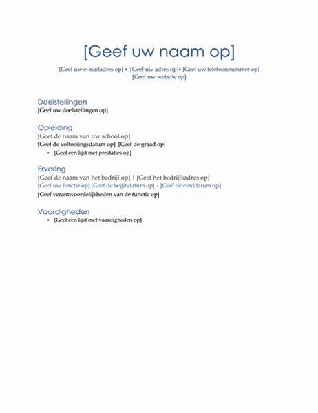 Resumé (thema Executive)